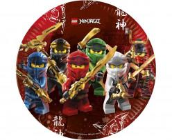 8 Pratos Festa Lego Ninjago 23cm