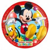8 Pratos festa Mickey 20 cm