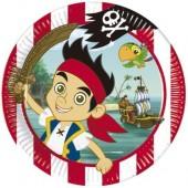 8 Pratos Festa Pirata Jake