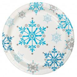 8 Pratos Festa Snow Princess 17cm