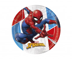8 Pratos Festa Spiderman Superhero 23 cm
