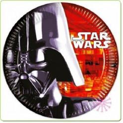 8 Pratos Festa Star Wars Darth Vader 23cm