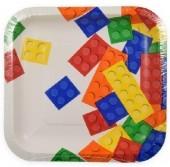 8 Pratos Lego Party 17cm