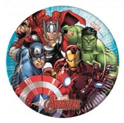 8 Pratos Mighty Avengers 20cm