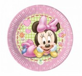 8 Pratos Minnie Bebé 20cm