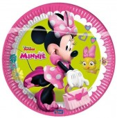 8 Pratos Minnie Disney Happy Helpers 23 cm