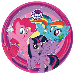 8 Pratos My Little Pony 23cm