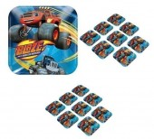 8 Pratos quadrados Blaze Monster Machines 17,8cm