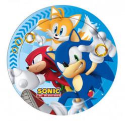 8 Pratos Sonic 23cm