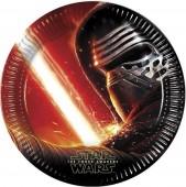 8 Pratos Star Wars O despertar da força 23 cm