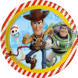 8 Pratos Toy Story 4 23cm