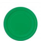 8 Pratos Verde Redondos 18cm
