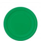 8 Pratos Verde redondos 22cm
