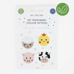 8 Tatuagens Temporárias Animais da Quinta
