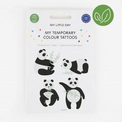 8 Tatuagens Temporárias Panda