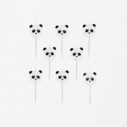 8 Velas Mini Panda