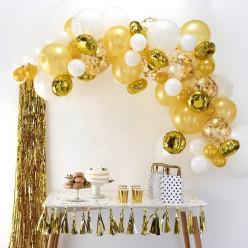 Arco com 70 Balões Dourado 4m