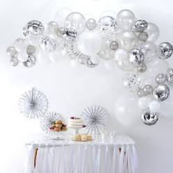 Arco com 70 Balões Prateado 4m
