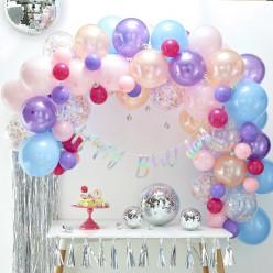 Arco com 80 Balões Pastel 4m
