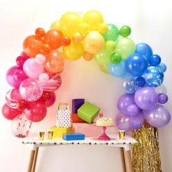 Arco com 85 Balões Arco Íris 4m