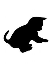 Ardósia em forma de Gato