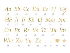 Autocolantes Letras Douradas