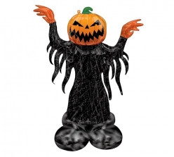 Balão AirLoonz Abóbora Fantasma Halloween 134cm
