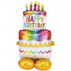 Balão AirLoonz Birthday Cake 134cm