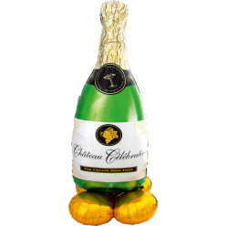Balão AirLoonz Bubbly Wine Bottle 152cm