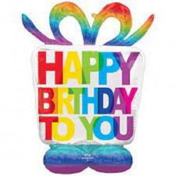 Balão AirLoonz Presente Happy Birthday 127cm