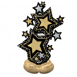 Balão AirLoonz Star Cluster Black and Gold 149cm