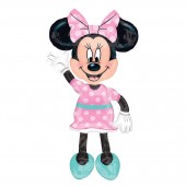 Balão AirWalker Minnie de 137cm - Rosa