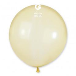 """Balão Amarelo Crystal 19"""" (48cm)"""