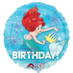 Balão Ariel Pequena Sereia Happy Birthday