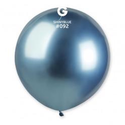 """Balão Azul Brilhante 19"""" (48cm)"""