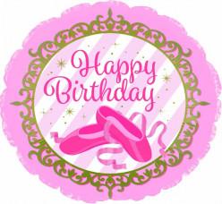 Balão Bailarina Happy Birthday