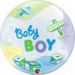 Balão Bubble Baby Boy Airplanes