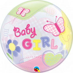 Balão Bubble Baby Girl Butterflies