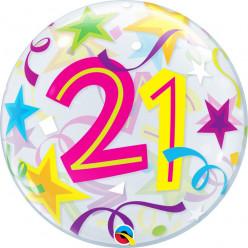 Balão Bubble Estrelas Brilhantes 21