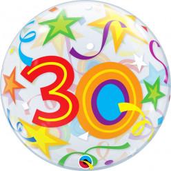 Balão Bubble Estrelas Brilhantes 30