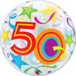 Balão Bubble Estrelas Brilhantes 50
