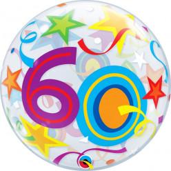 Balão Bubble Estrelas Brilhantes 60