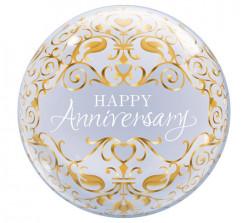 Balão Bubble Happy Anniversary Clássico