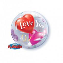 Balão Bubble I Love You
