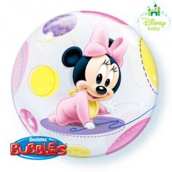 Balão Bubble Minnie bebé 56cm