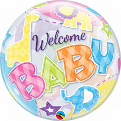 Balão Bubble Welcome Baby Animals