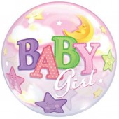 Balão Bubbles Baby Girl 56cm