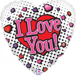 Balão Coração I Love You 53cm