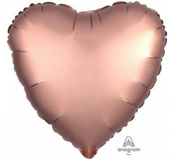 Balão Coração Rose Gold Acetinado