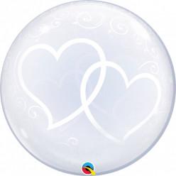Balão Deco Bubble Corações Entrelaçados
